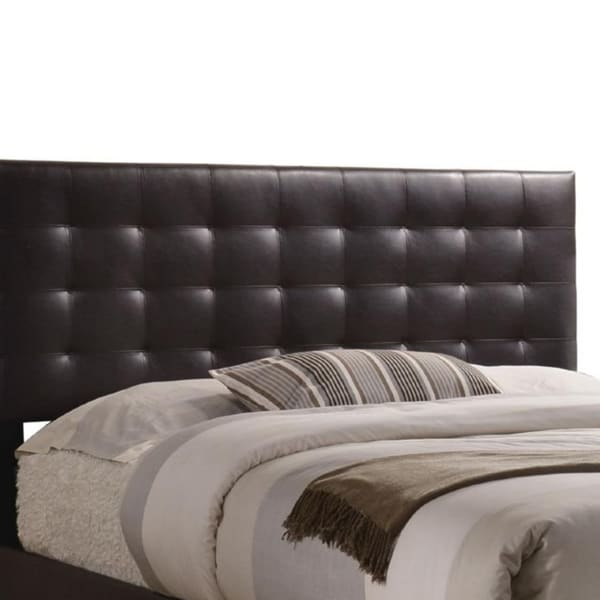 Sophistiated Transitional Style Queen Size Padded Bed, Brown