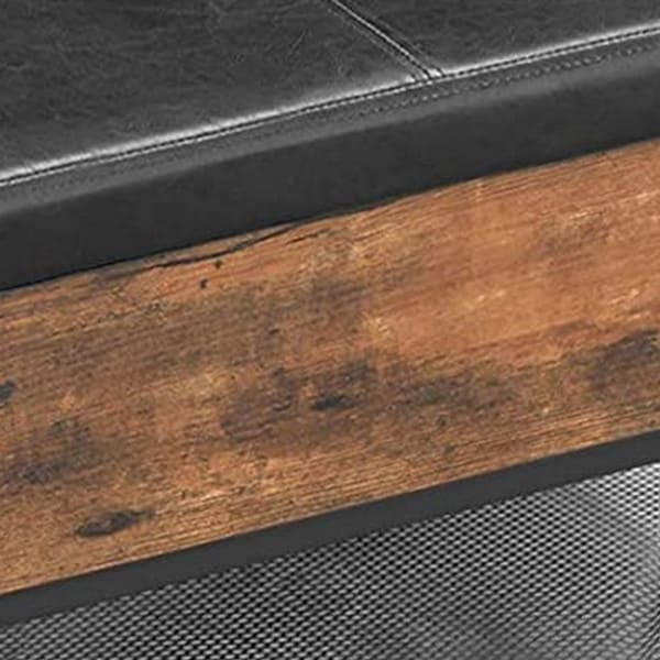 31.5 Inches Leatherette Coffee Table with Lift Top Storage, Brown