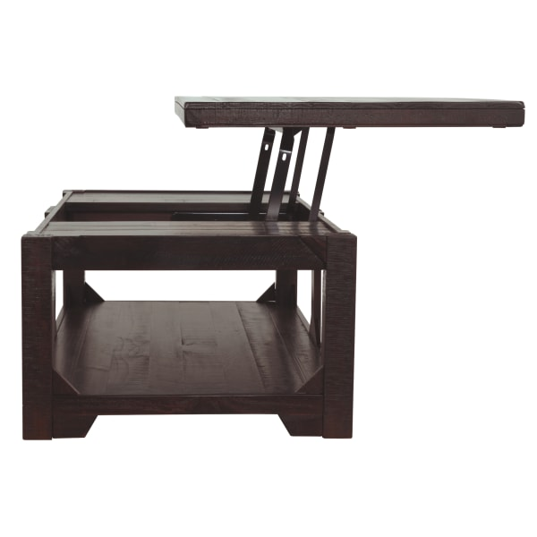 Wooden Lift Top Coffee Table with One Open Shelf, Brown