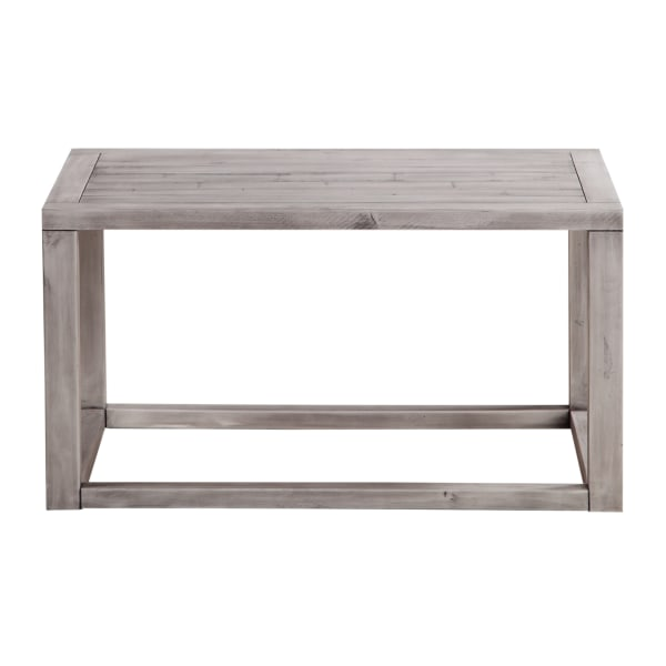 Pine Wood Coffee Table with Plank Style Top, Gray