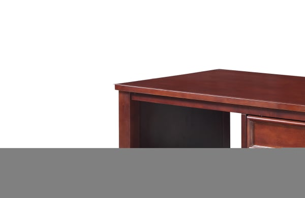 Wooden Coffee Table with Spacious Shelves and Drawer, Brown