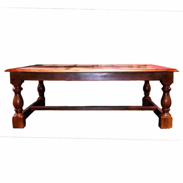 Traditional Style Wooden Coffee Table, Brown