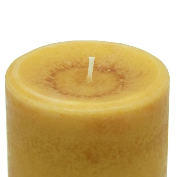 Pier 1 Amber Musk 3x4 Solid Pillar Candle