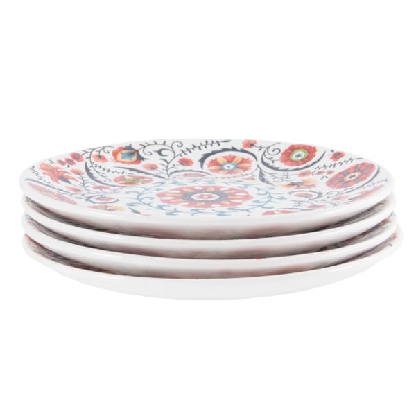 Pier 1 Medallion Salad Plates, Set of 4