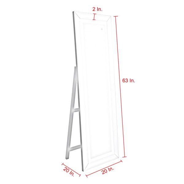 Fenna Full Length Floor Standing Mirror with LED Light