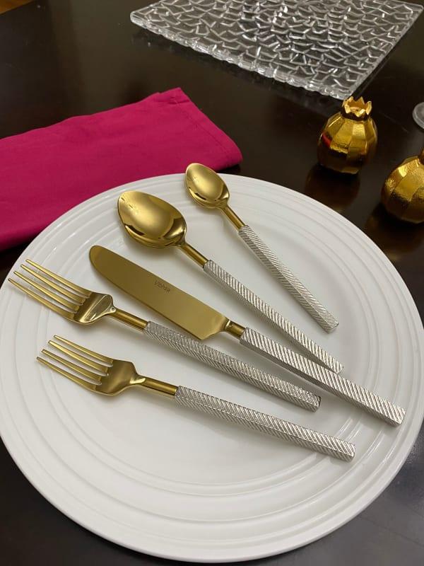 Designer Gold 20 Piece Service for 4 Flatware Set