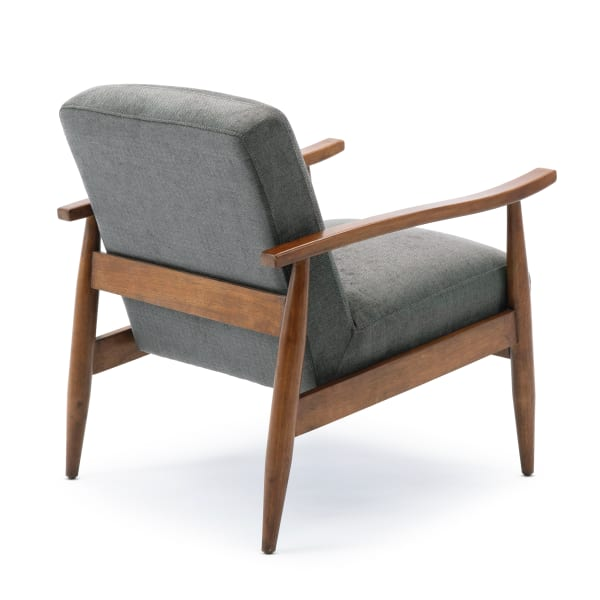 Aldon Charcoal Wooden Base Accent Chair