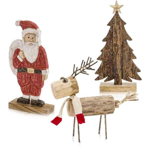 Natural Santa Sculpture