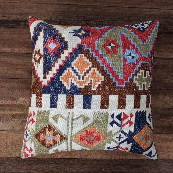 Tribal Print Cotton Multicolor Accent Pillow Cover