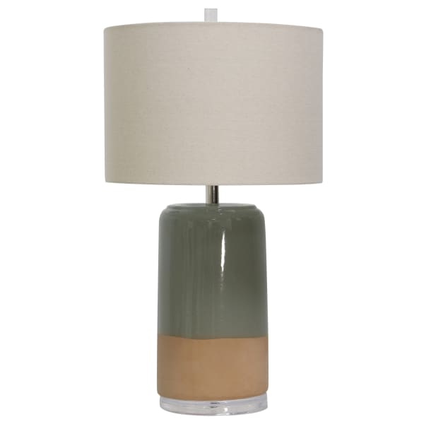 St. Louis Green & Peach Table Lamp