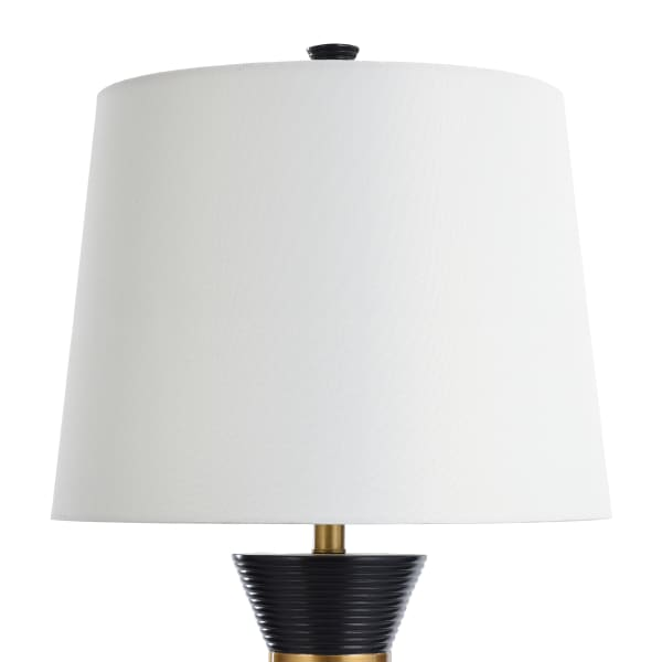 Logan Pear Shaped Sleek Table Lamp