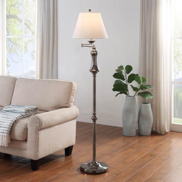 Logan Transitional Swing Arm Floor Lamp