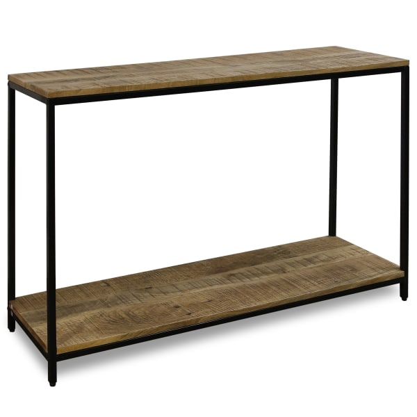 Logan Wood and Black Finish Console Table