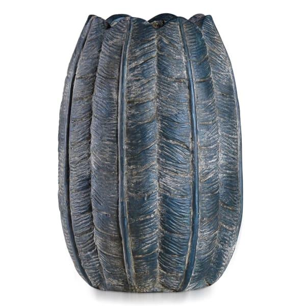 Bordini Blue Dark Blue Leaf Design Eco Paper Vase