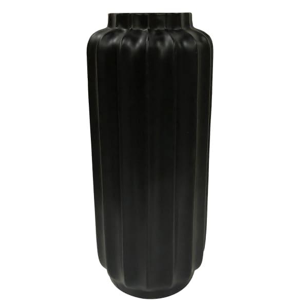 Bari Matte Black Resin Small Floor Vase