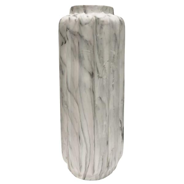 Trevi White Marble Resin Medium Floor Vase
