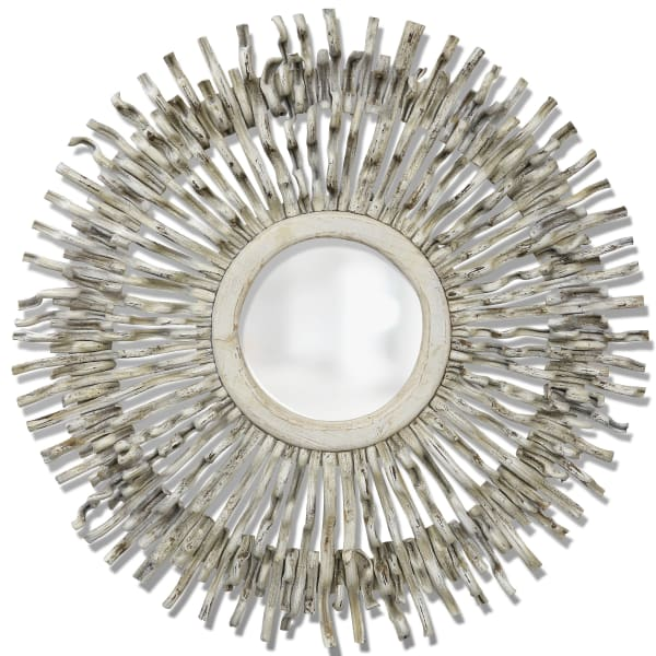 Lalita White Washed Finish Vine Mirror