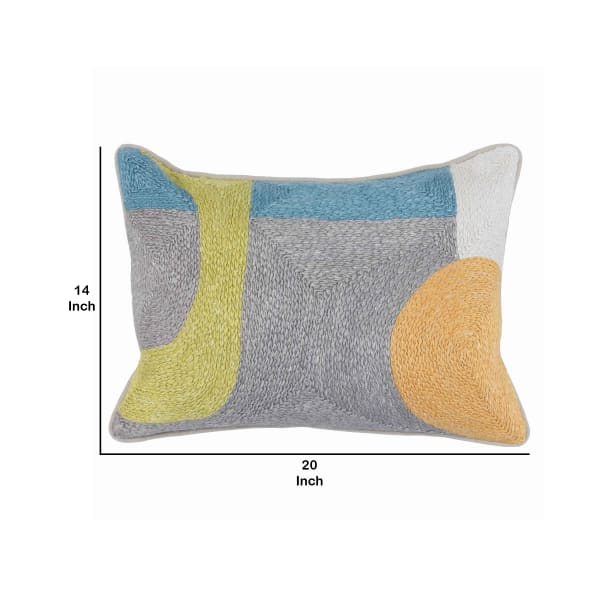 Handwoven Abstract Pattern Throw Pillow
