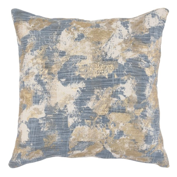 Abstract with Gold Foil Accents Throw Pillow