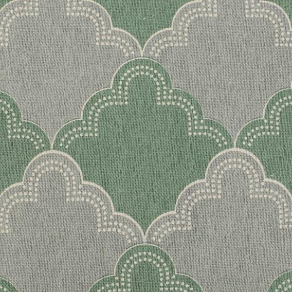 Green Geometric Pattern Throw Pillow