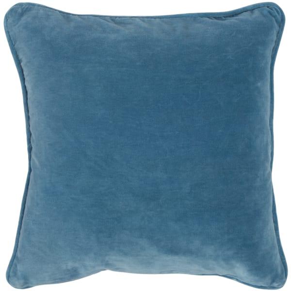 Printed Medallion Blue Throw Pillow