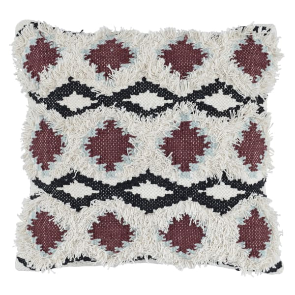 Handwoven Geometric Pattern Fabric Multicolor Throw Pillow
