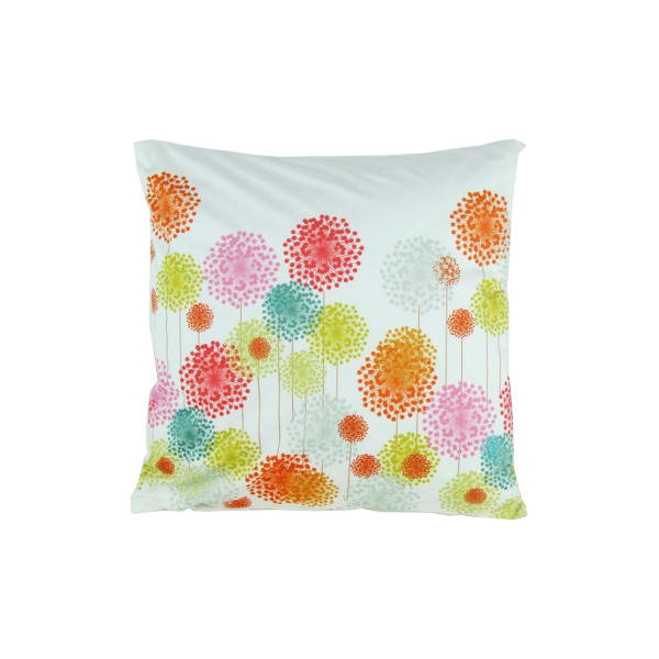 Floral Pattern Fabric Multicolor Accent Pillow
