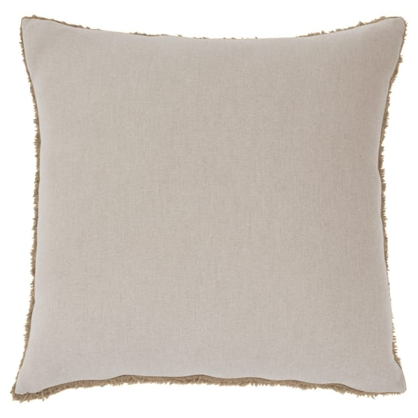 Furry Texture Brown Set of 4 Accent Pillows