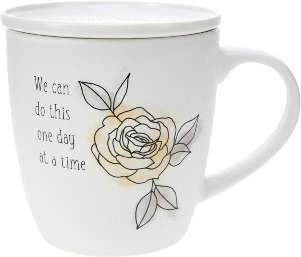 One Day at a Time - Cup with Coaster Lid