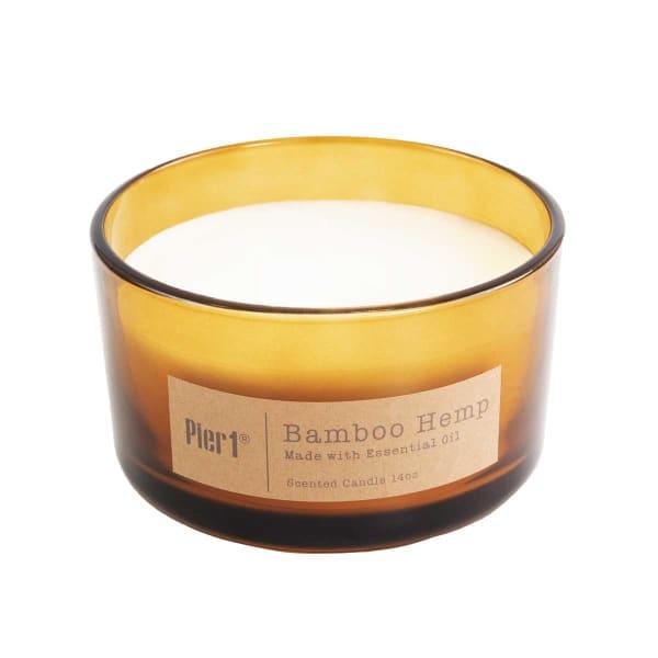 Pier 1 Bamboo Hemp Filled 3-Wick 14oz Candle