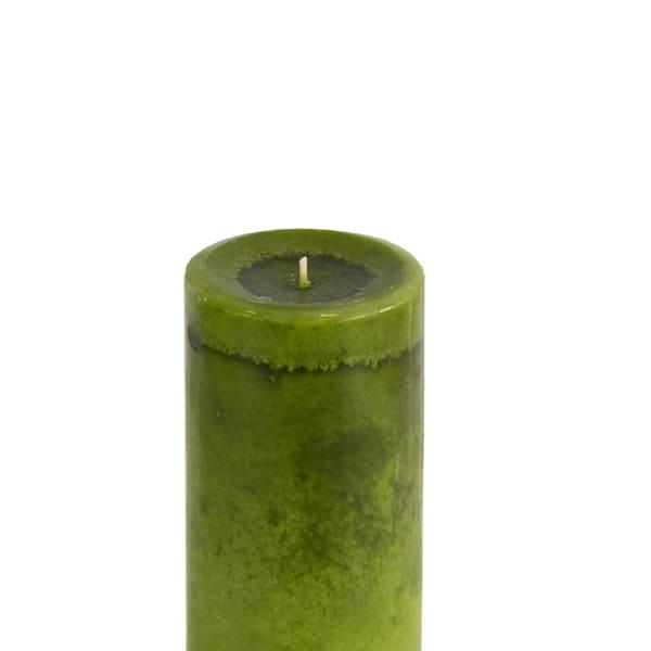 Pier 1 Citrus Cilantro® Mottled 3x6 Pillar Candle