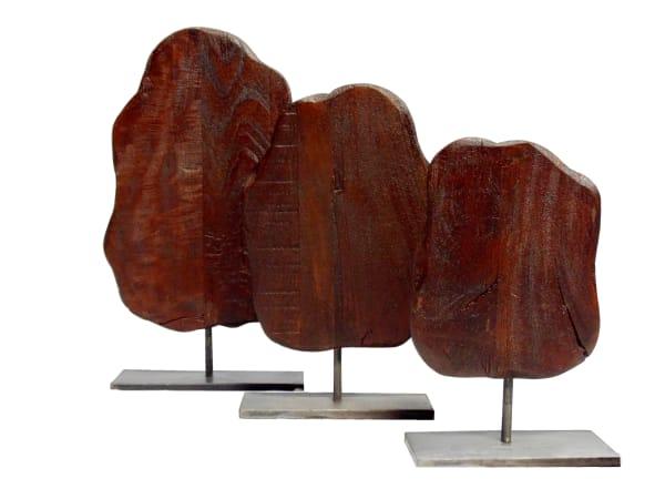 Brown Samarth Decor Set of 3 Iron Stand Sculptures