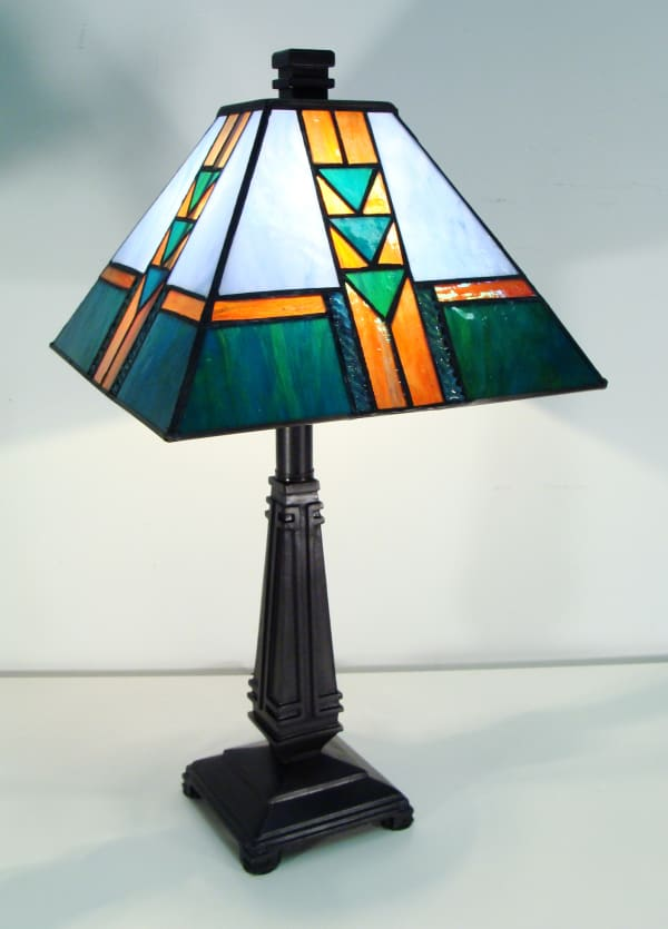 Frank Lloyd Wright Stained Glass Table Lamp