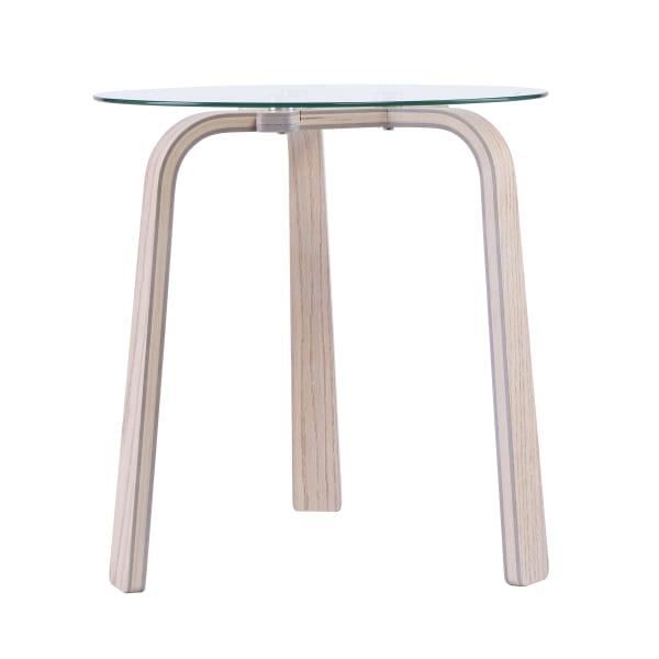 Kington Glass-Top End Table