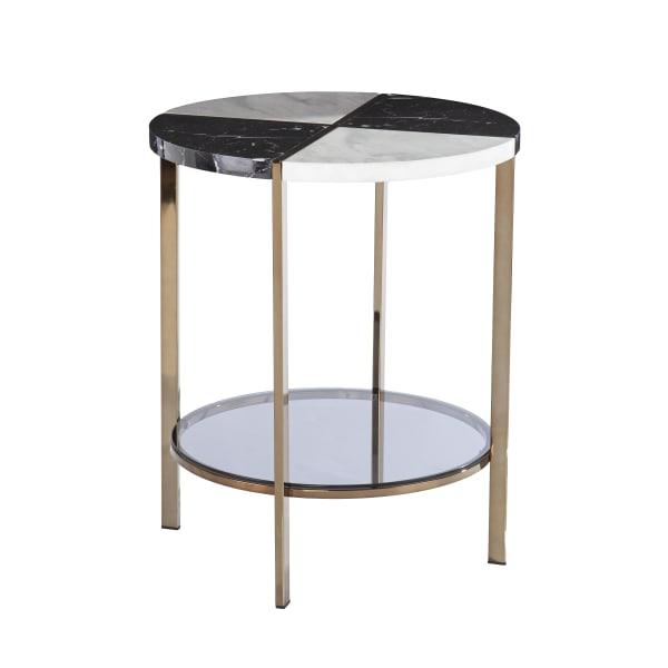 Eton Faux Marble End Table