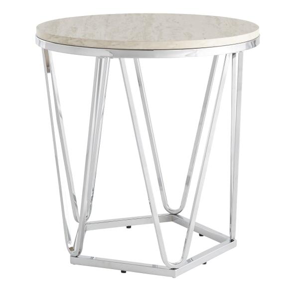 Santiago Faux Stone Side Table