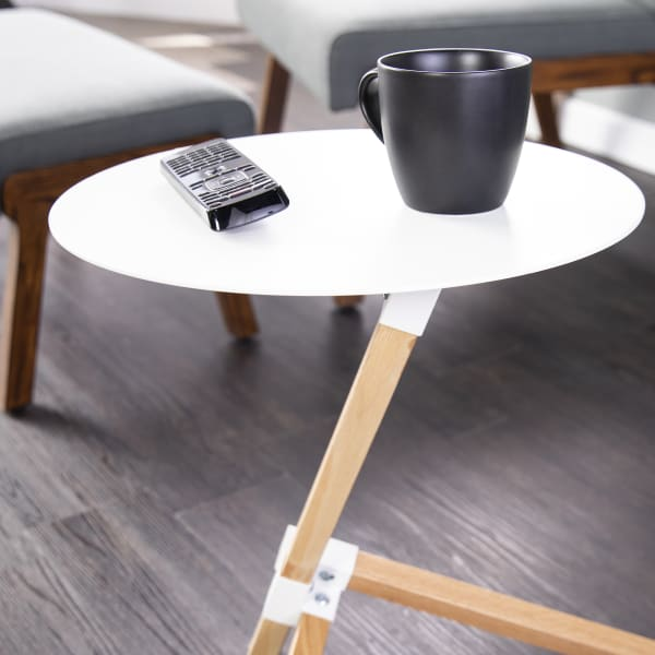 Maisie White Accent Table