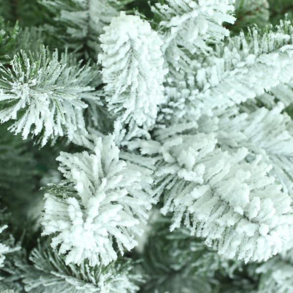 Jeremy 4.5' Green Flocked Virginia Pine Artificial Christmas Tree