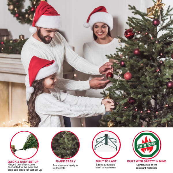 Octavius Pre-Lit 7.5' 900 Lights Green Middleburry Spruce Artificial Christmas Tree