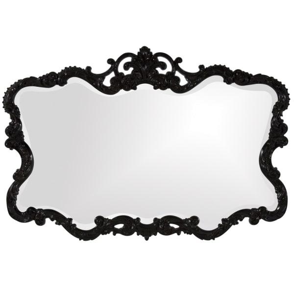 Scallop Mirror with Ornate Black Lacquer Frame