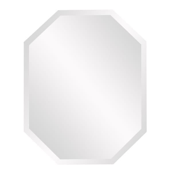 Octagonal Minimalist Frameless Mirror