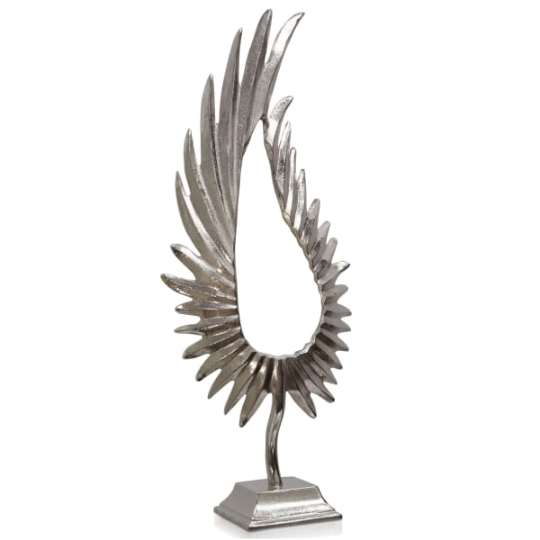 Phoenix Large Feathered Metal Sculpture