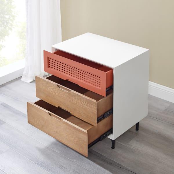 Modern 3-Drawer Nightstand