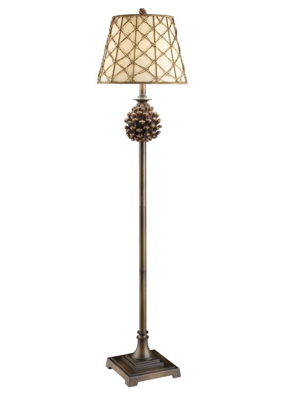 Woodlands Pine Cone Floor Lamp