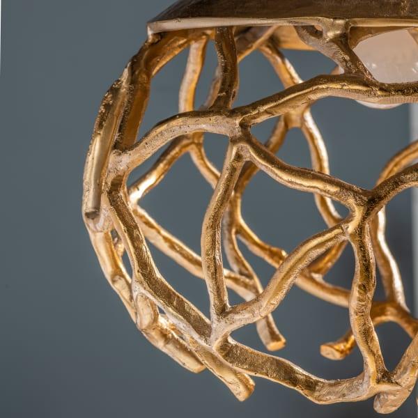 Single Light Gold Leaf Finish Pendant