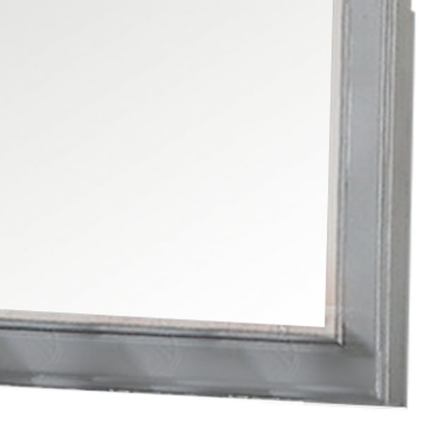 Molded Details with Brown Crown Top Frame Modern Mirror