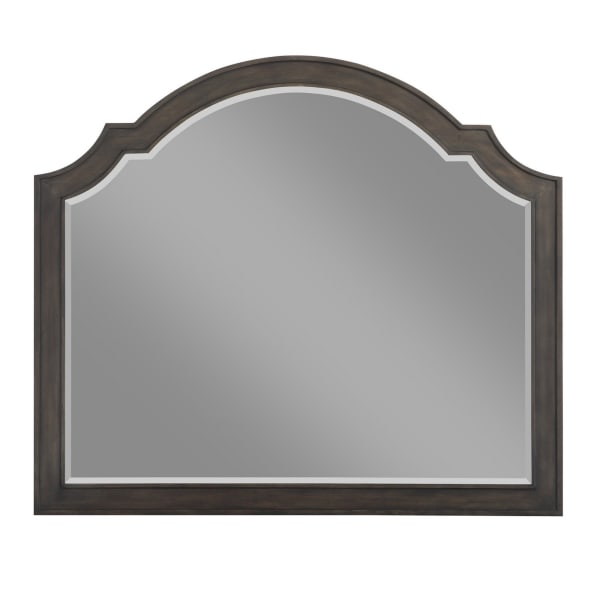 Arched with Mounting Hardware Wooden Brown Wall Mirror