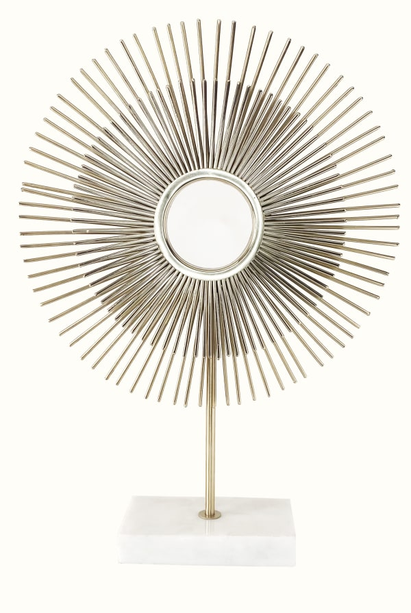 Sun with Marble Base Decorative Stand