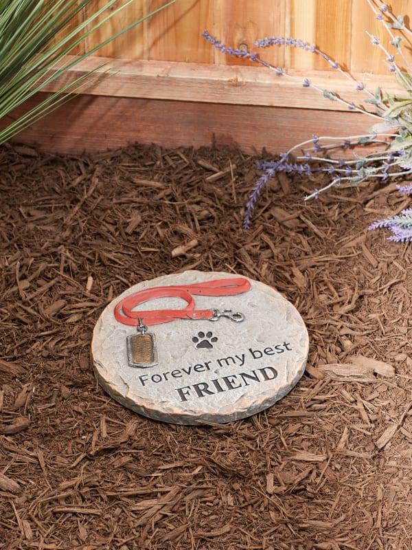 Forever My Best Friend Pet Memorial Stepping Stone