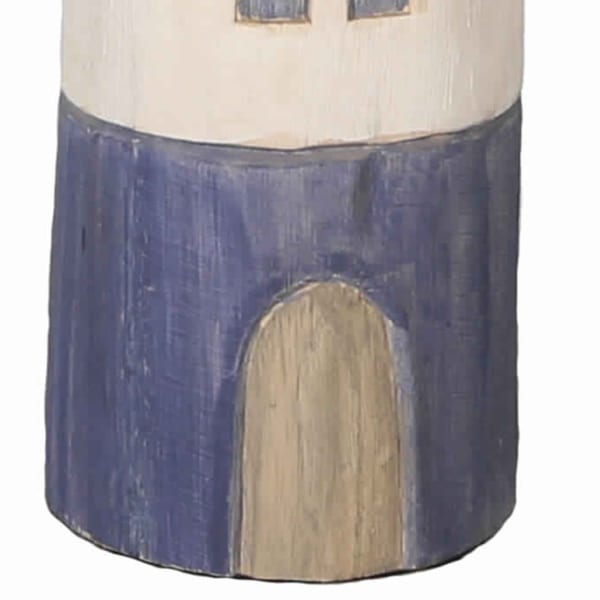Small Wooden Light House Accent